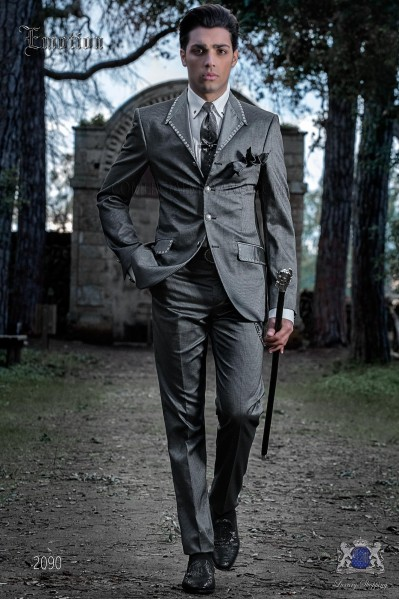 Fashion italian bespoke suit grey