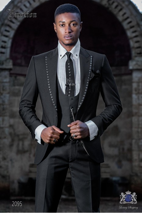 Italian black fashion suit new performance fabric