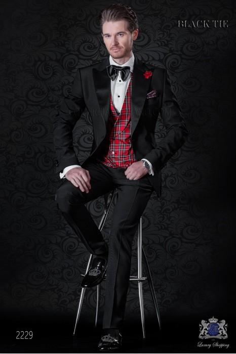 Italian bespoke black tuxedo suit