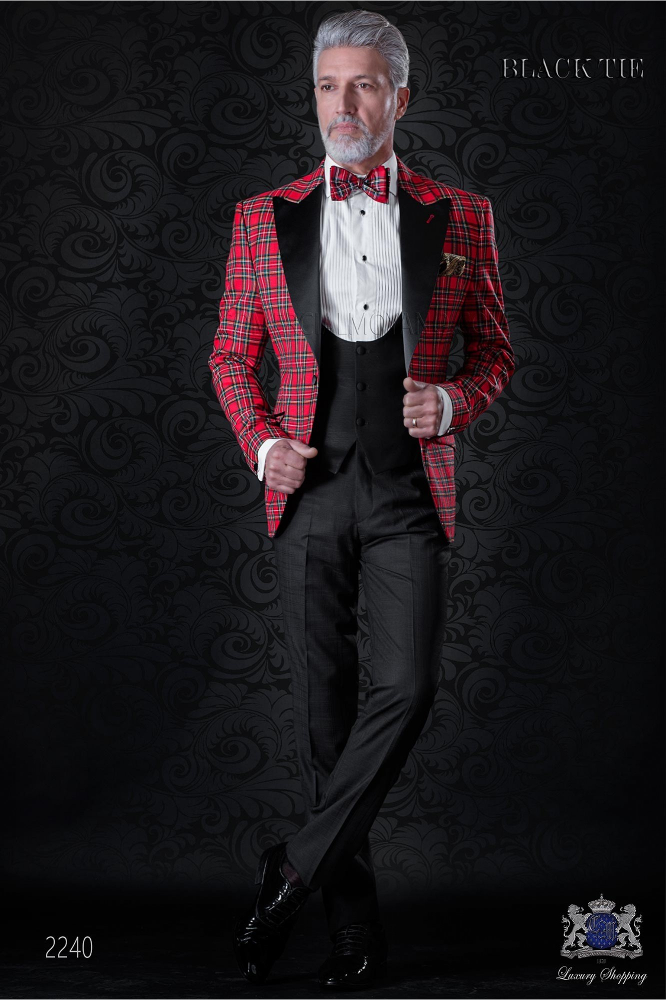 Italian tuxedo red tartan Royal Stewart