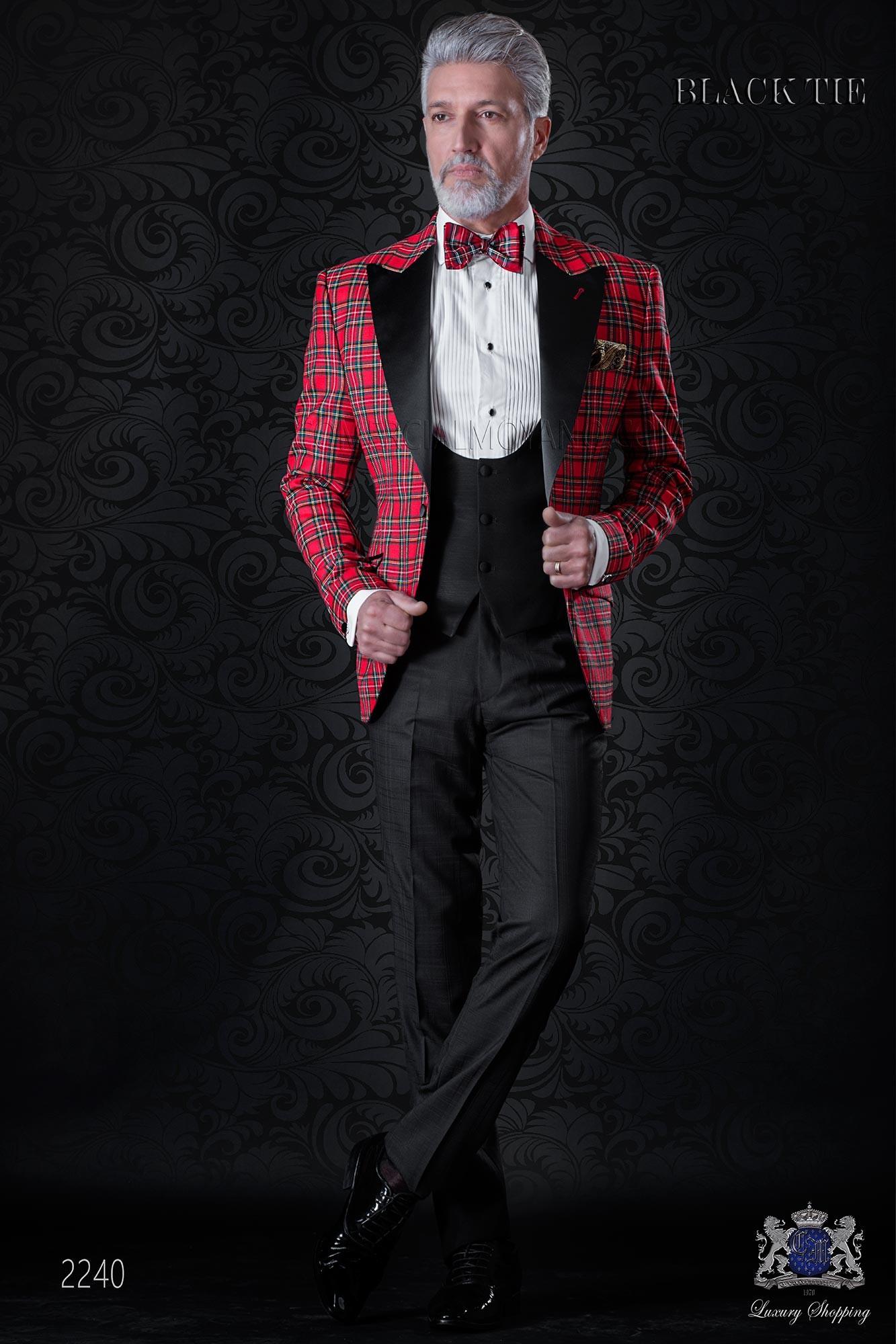 italienisch roten smoking anzug ottavio nuccio gala. Black Bedroom Furniture Sets. Home Design Ideas