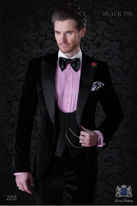 Italian bespoke black velvet tuxedo