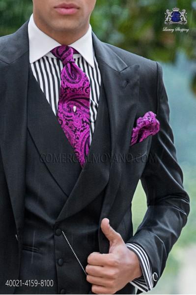 Camisa combinada rayas negras