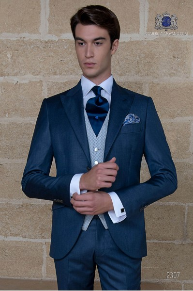 Italienisch Gehrock Hochzeitsanzug blau
