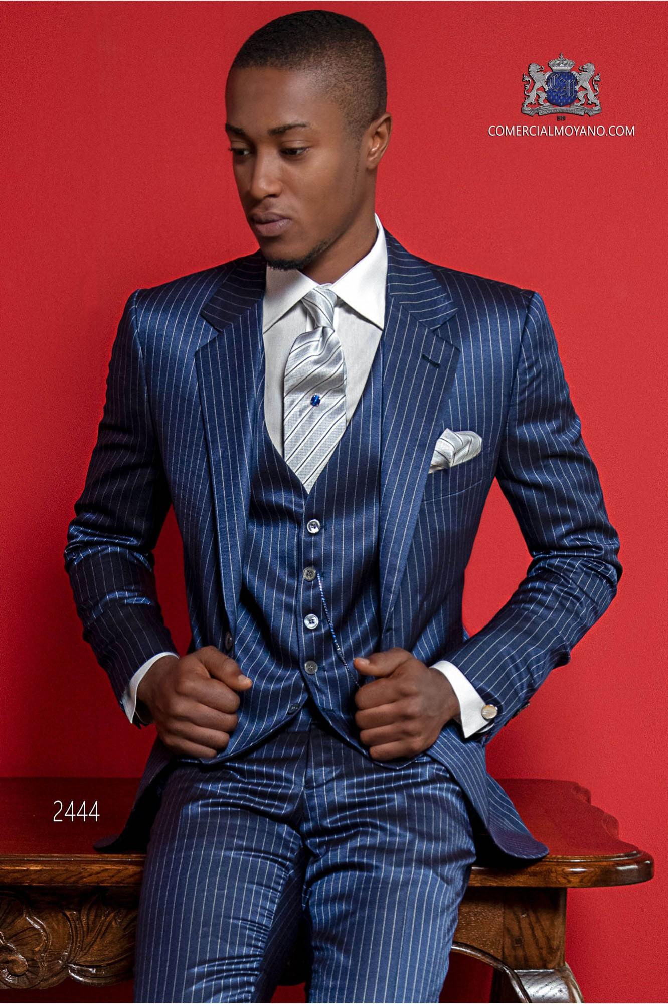 great deals on fashion performance sportswear really comfortable Italian bespoke blue pinstripe suit