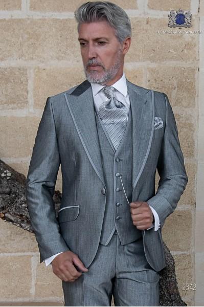 Traje de novio gris claro lana mohair alpaca
