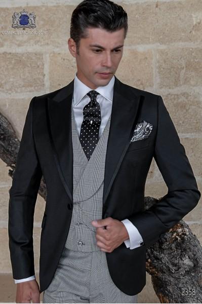 Italian bespoke black wedding suit