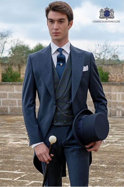 "Blue morning suit ""slim"" cut"