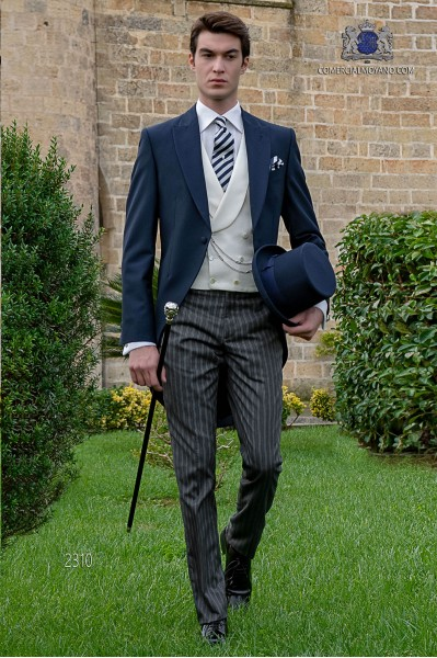 Bespoke blue morning suit