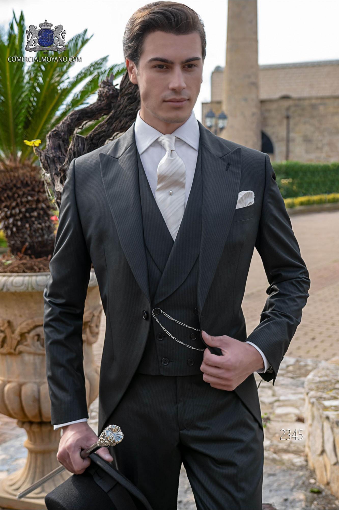 Elegant frock coat Italian tailoring cut