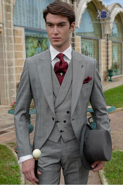 Bespoke Prince of Wales grey morning suit