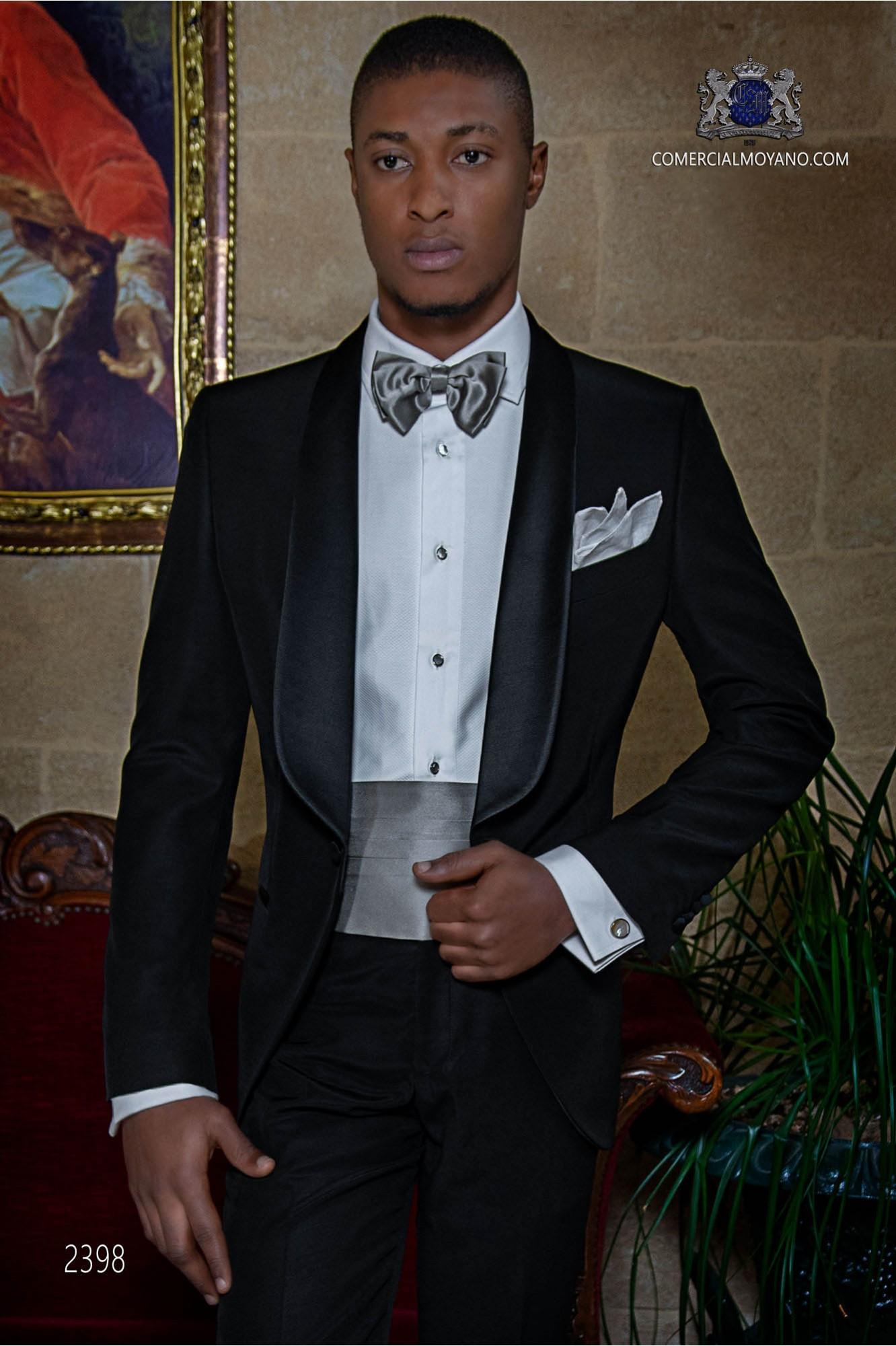 Italian bespoke black breasted tuxedo model 2398 Ottavio Nuccio Gala