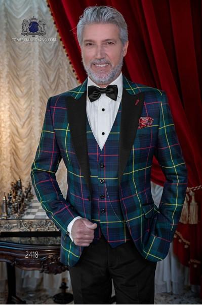 Italian tuxedo green tartan Royal Stewart