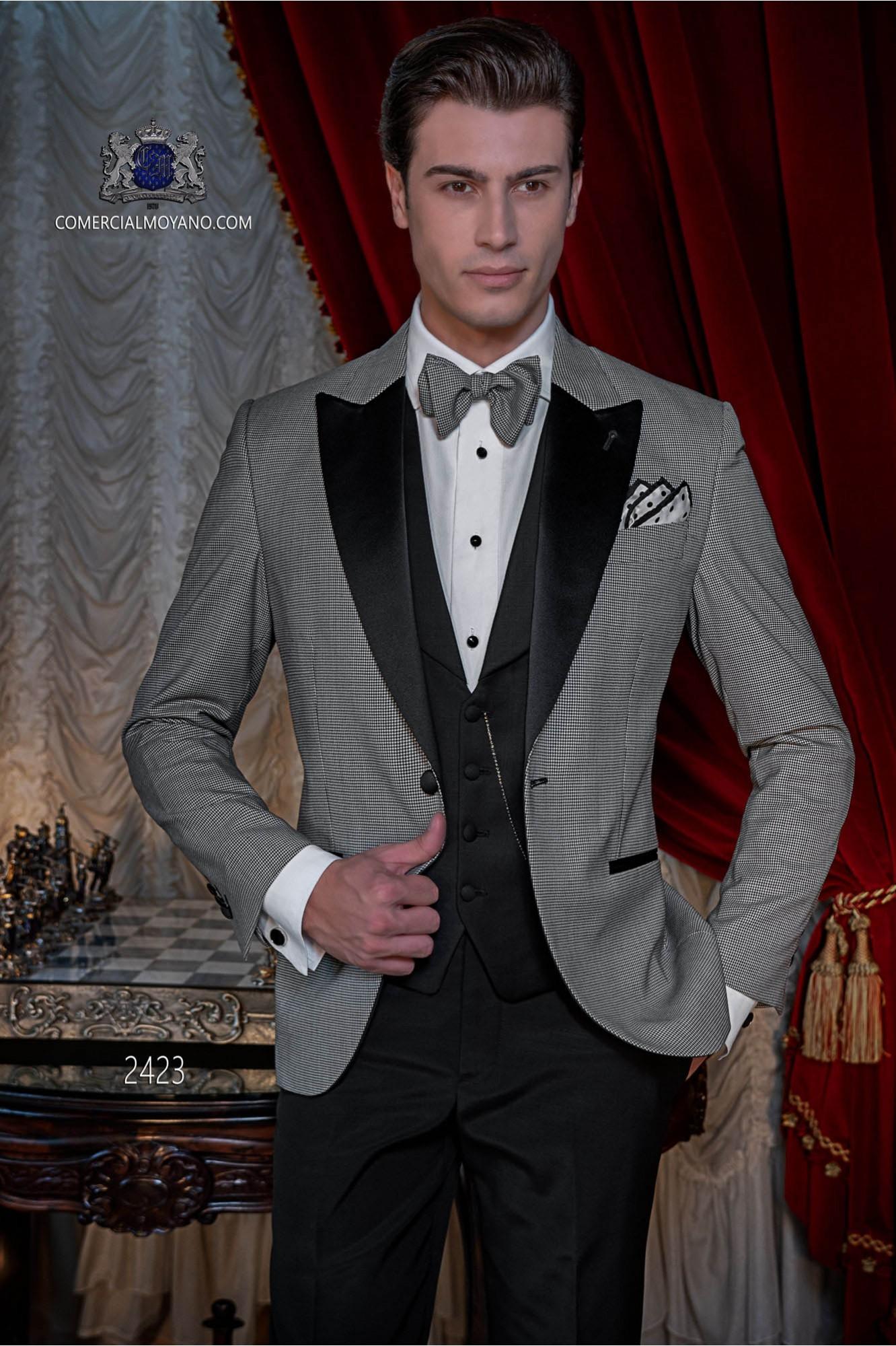 Italian bespoke black breasted tuxedo model 2423 Ottavio Nuccio Gala