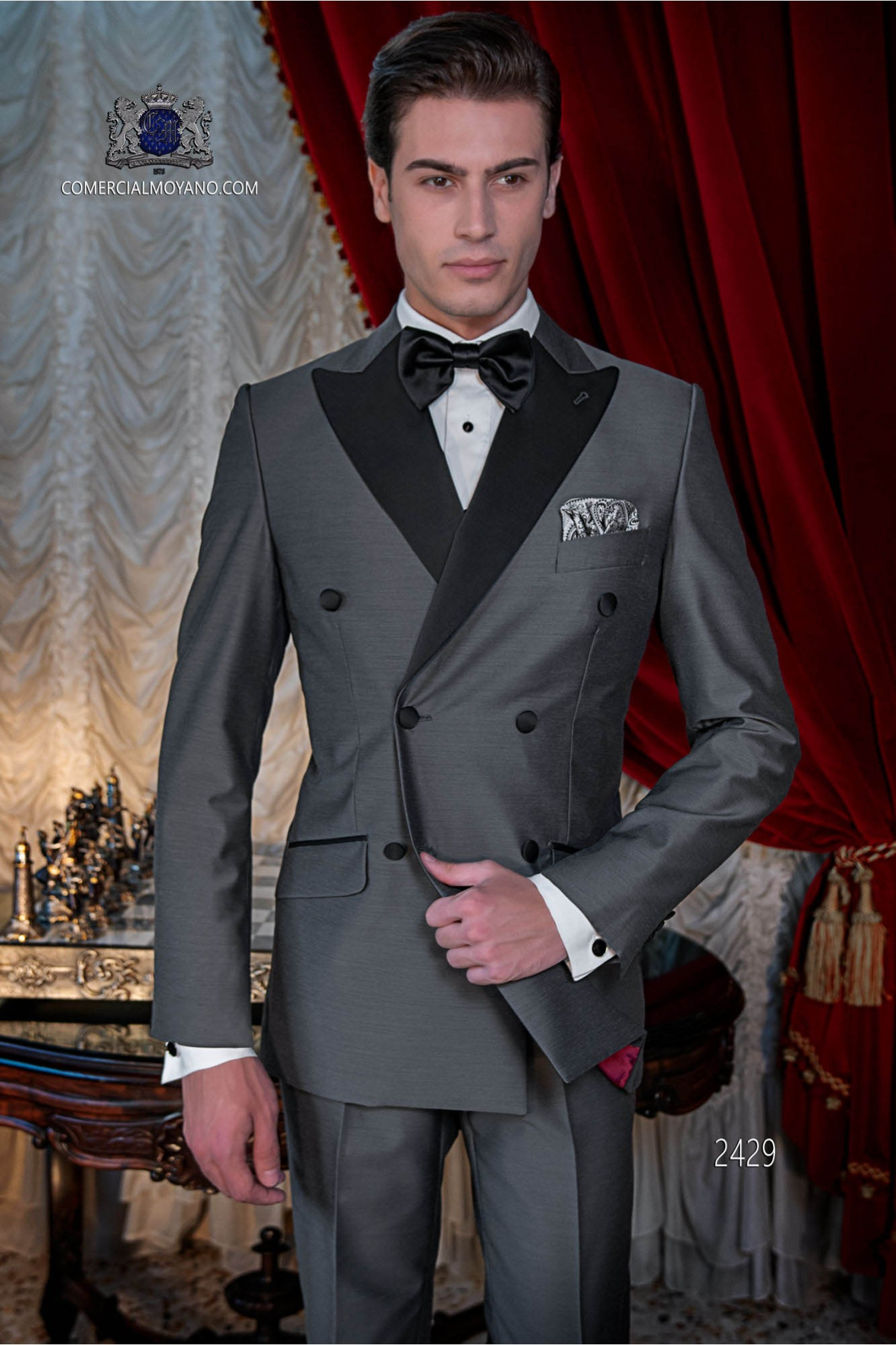Italian bespoke black breasted tuxedo model 2429 Ottavio Nuccio Gala