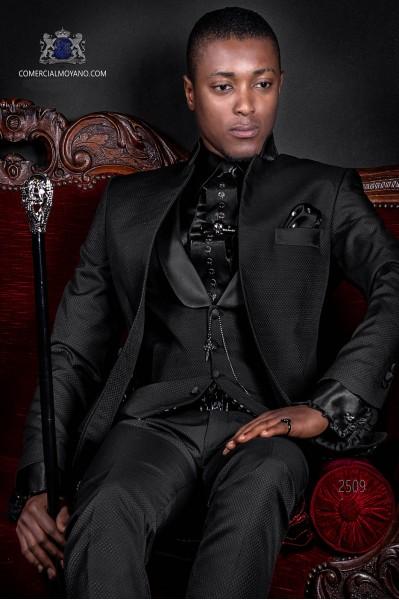 Italienne mao noir costume de marié de collier