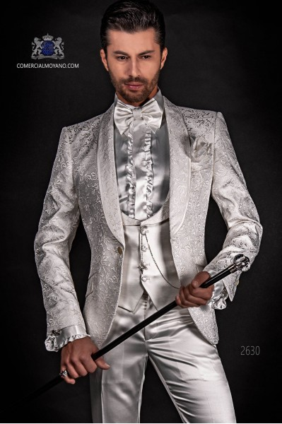 Bespoke white silk dinner jacket