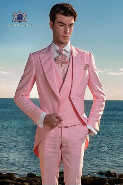 "Light pink morning suit ""slim"" cut"