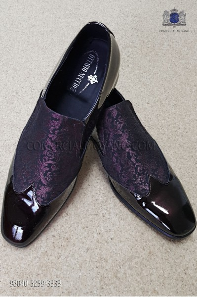 Purple jacquard fabric shoe