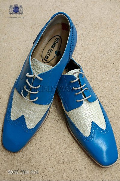 """Zapatos modelo """"Golf"""" color celeste"""
