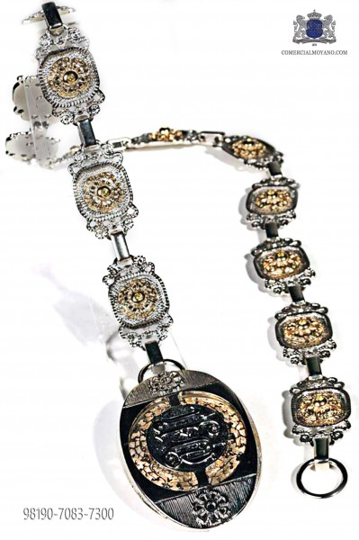 Nickel and gold-tone belt