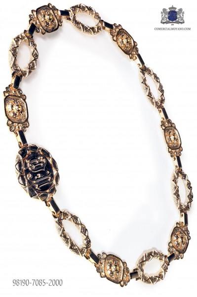 Gold-tone metal belt