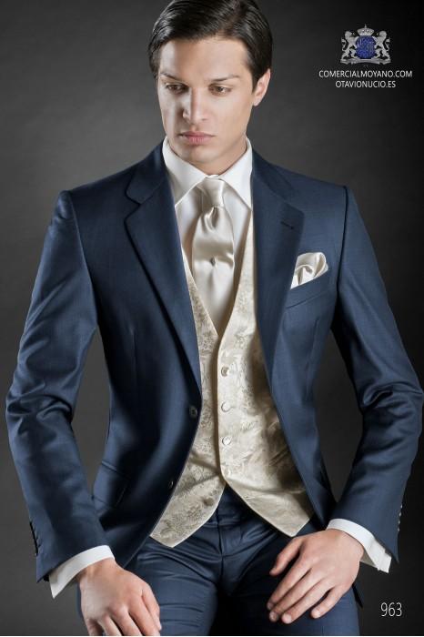 Blue men wedding suit