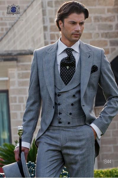 """Frock coat elegant tailoring cut """"Slim"""". Prince of Wales fabric."""