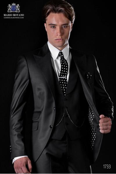 Black men fashion weddindg suit