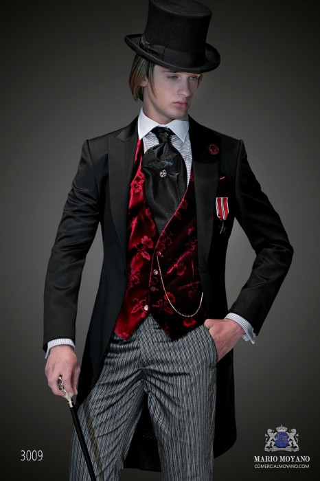 Black Steampunk tailored morning suit