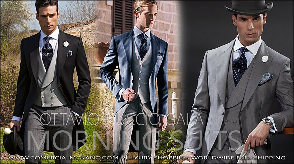 Groom suits for a formal morning wedding