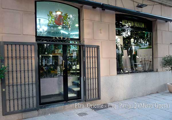 Men wedding suits official store italian firm Ottavio Nuccio Gala, Pavía street 2 Madrid
